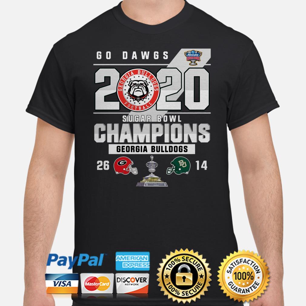 Georgia Bulldogs Go Dawgs 2020 Sugar Bowl Champions shirt