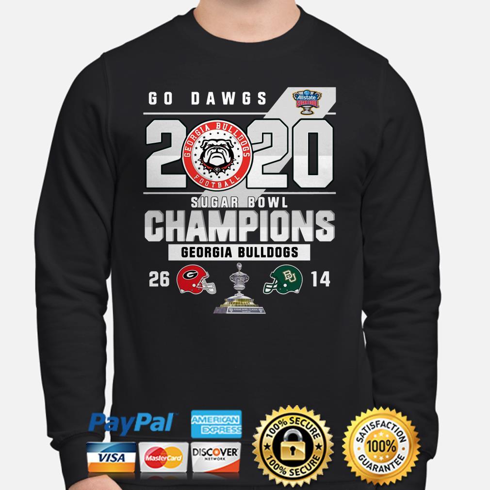 Georgia Bulldogs Go Dawgs 2020 Sugar Bowl Champions Sweater