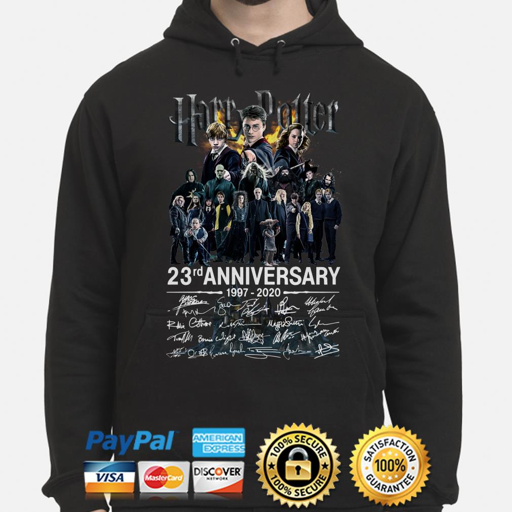 Harry Potter 23rd Anniversary characters signature Hoodie