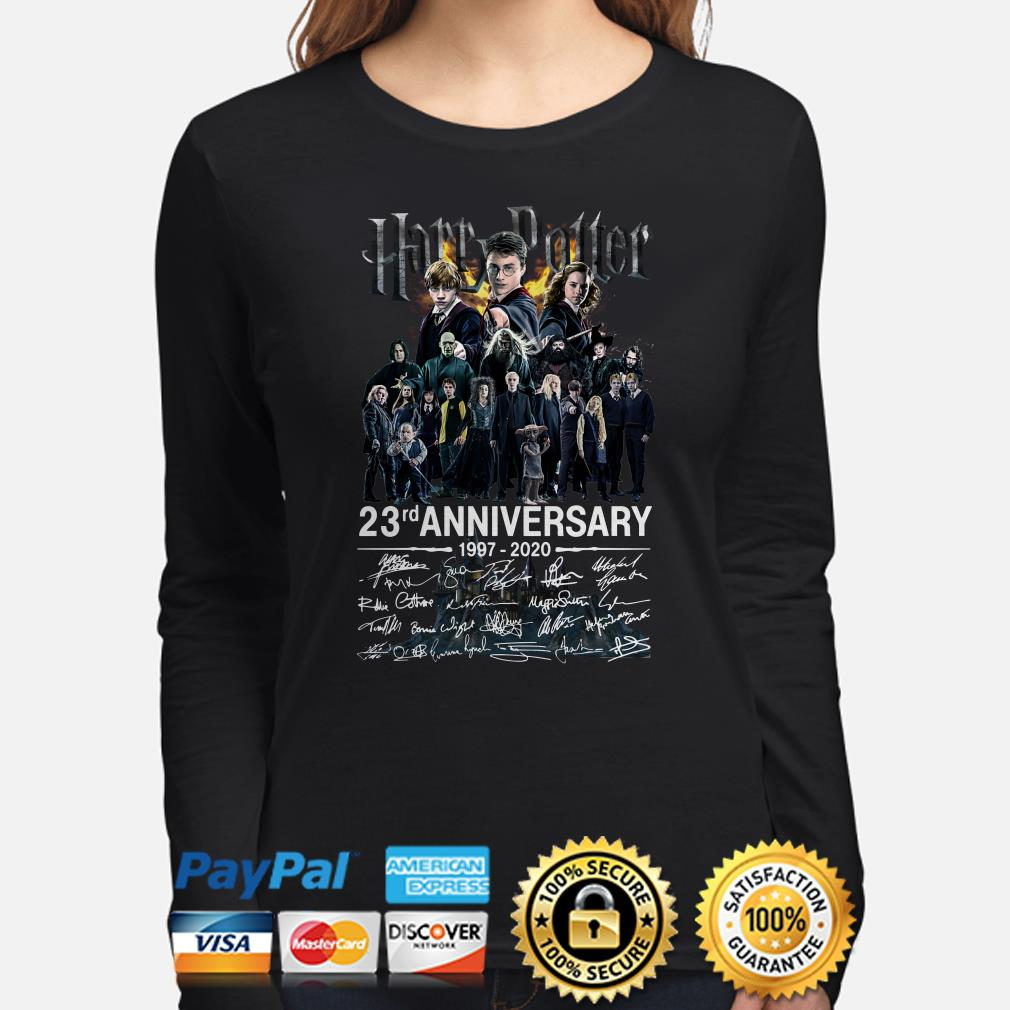 Harry Potter 23rd Anniversary characters signature Long sleeve