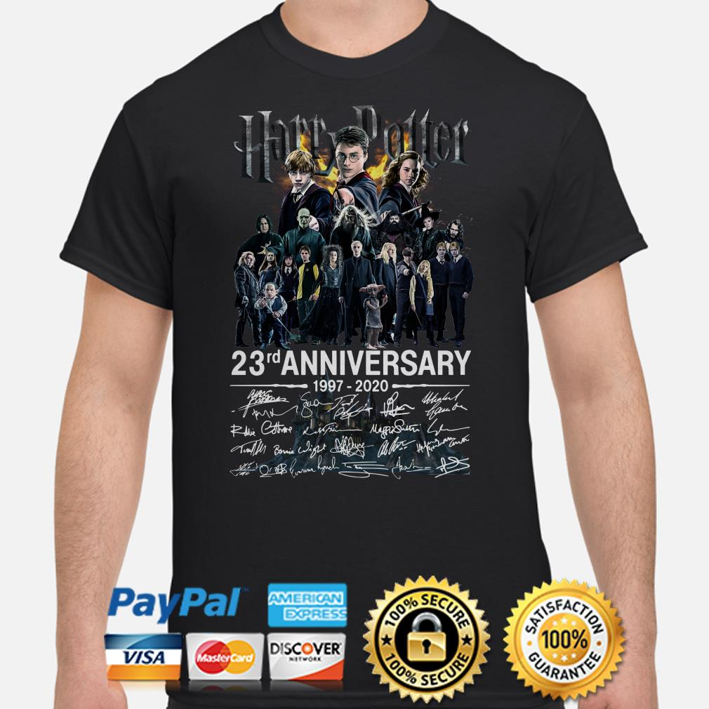 Harry Potter 23rd Anniversary characters signature shirt