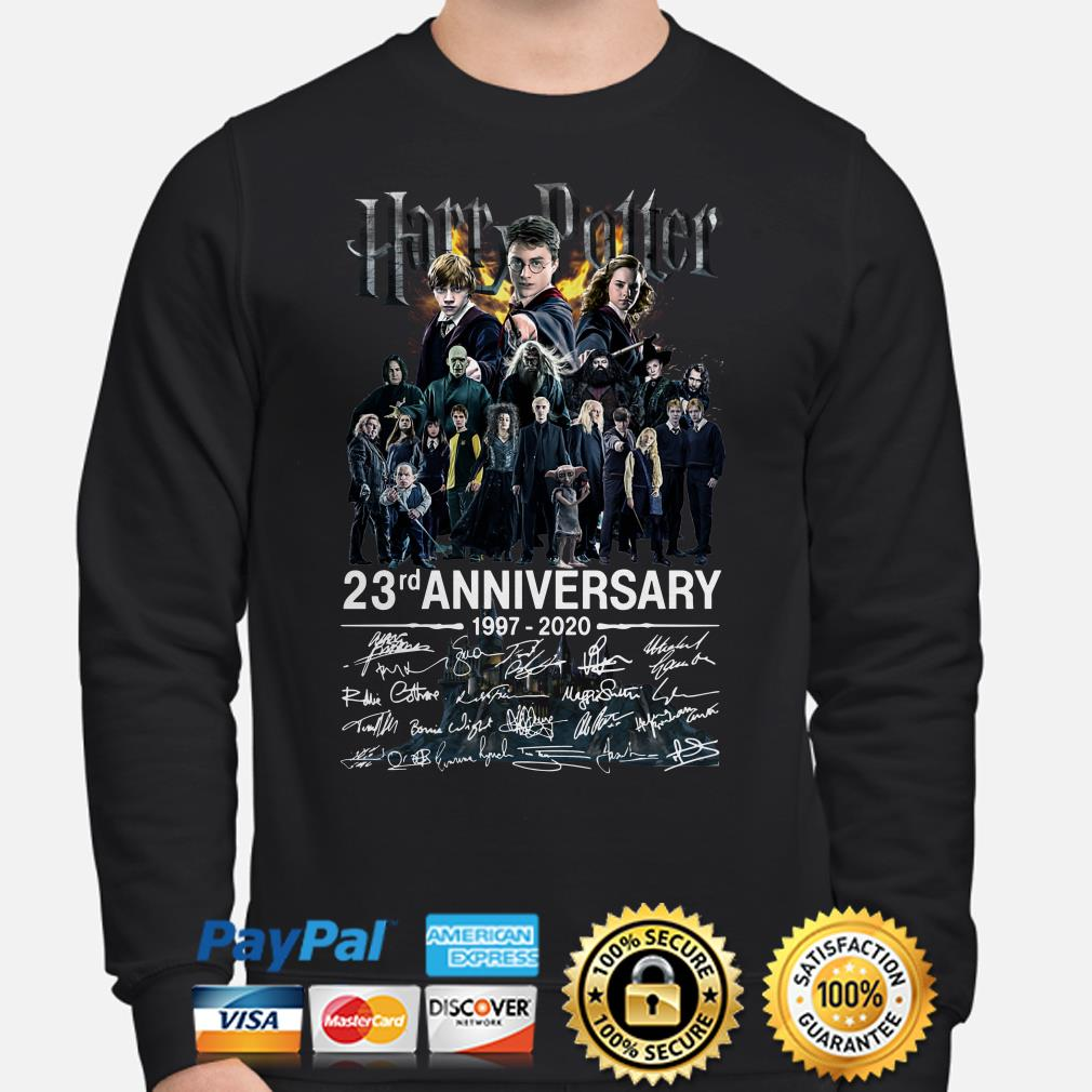Harry Potter 23rd Anniversary characters signature Sweater