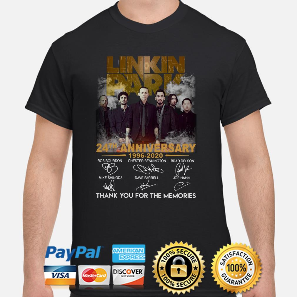 Linkin Park 24th Anniversary Thank You For The Memories Shirt