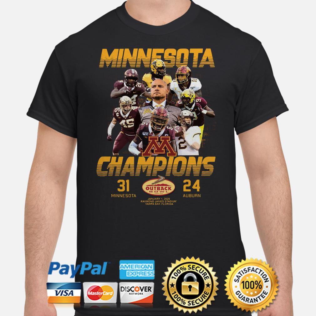Minnesota Champions outback Bowl shirt