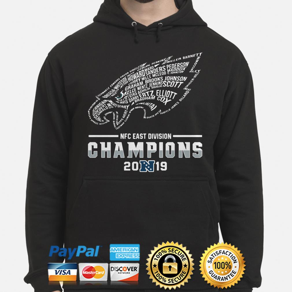 NFC East Division Champions 2019 Philadelphia Eagles Player name Hoodie