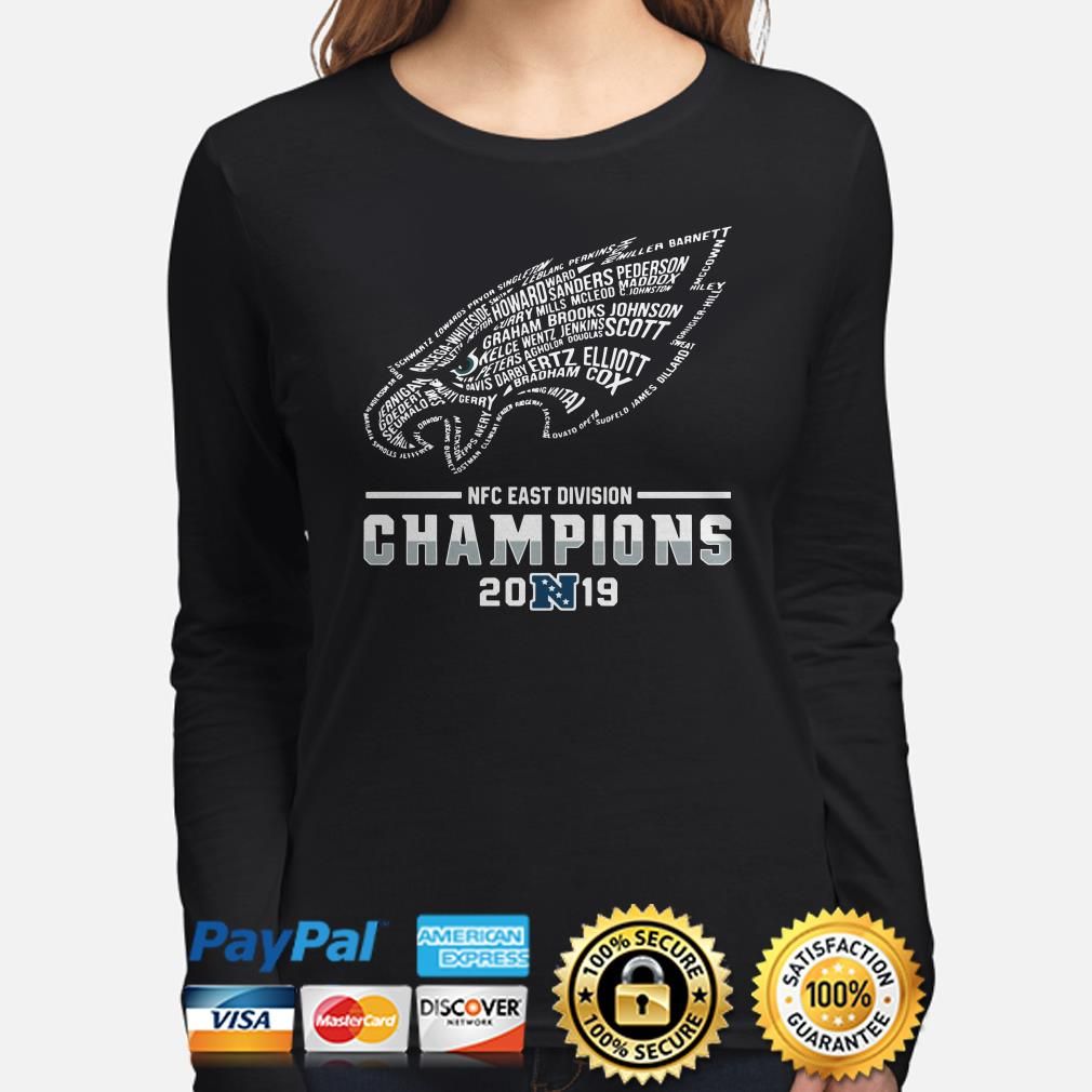 NFC East Division Champions 2019 Philadelphia Eagles Player name Long sleeve