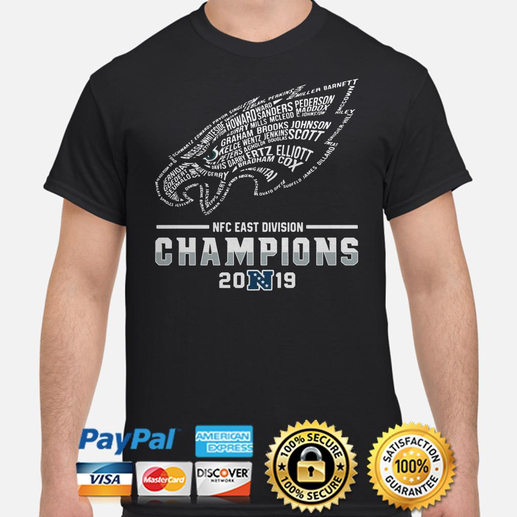 NFC East Division Champions 2019 Philadelphia Eagles Player name shirt