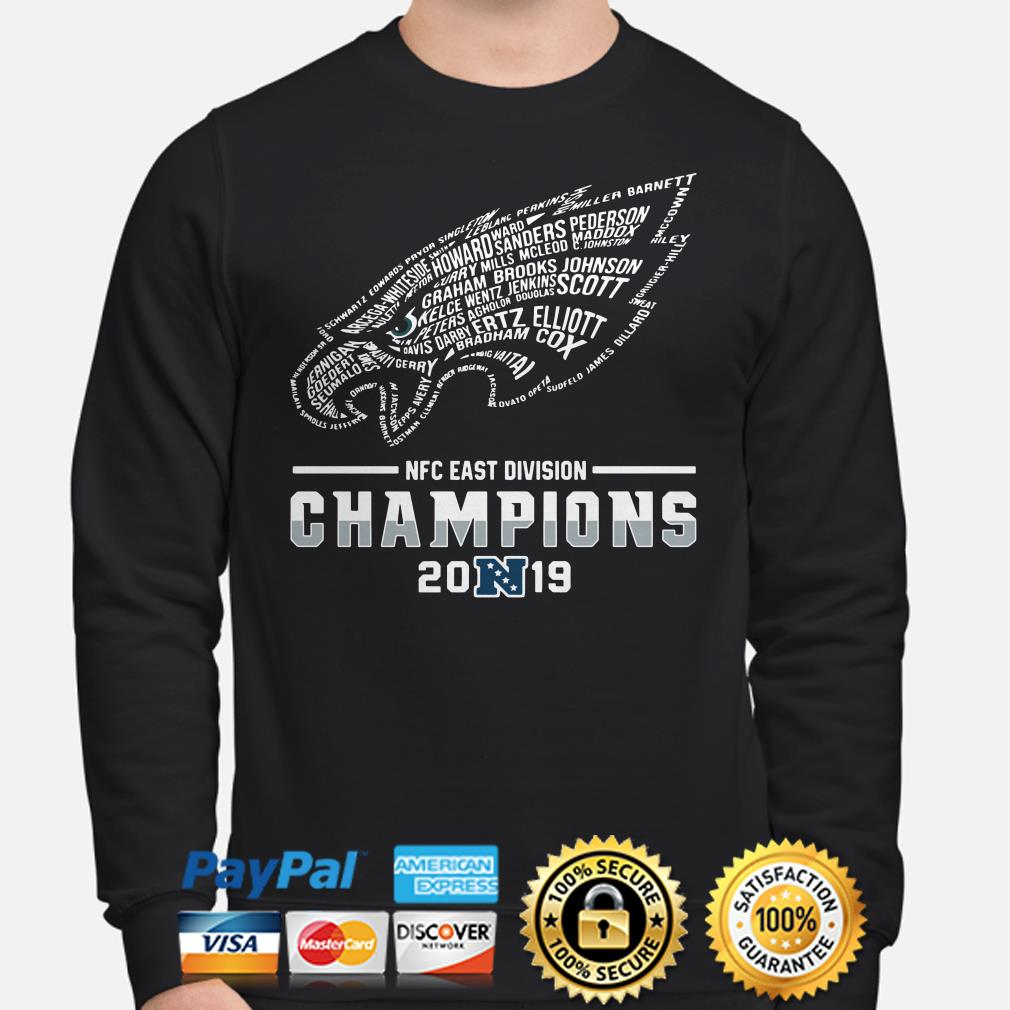 NFC East Division Champions 2019 Philadelphia Eagles Player name Sweater