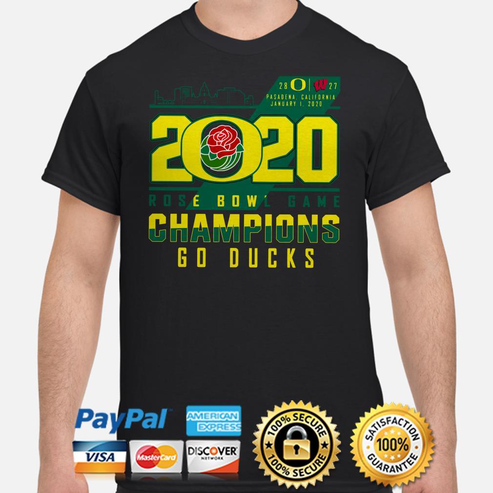 Oregon Ducks 2020 Rose Bowl Game Champions Goducks shirt