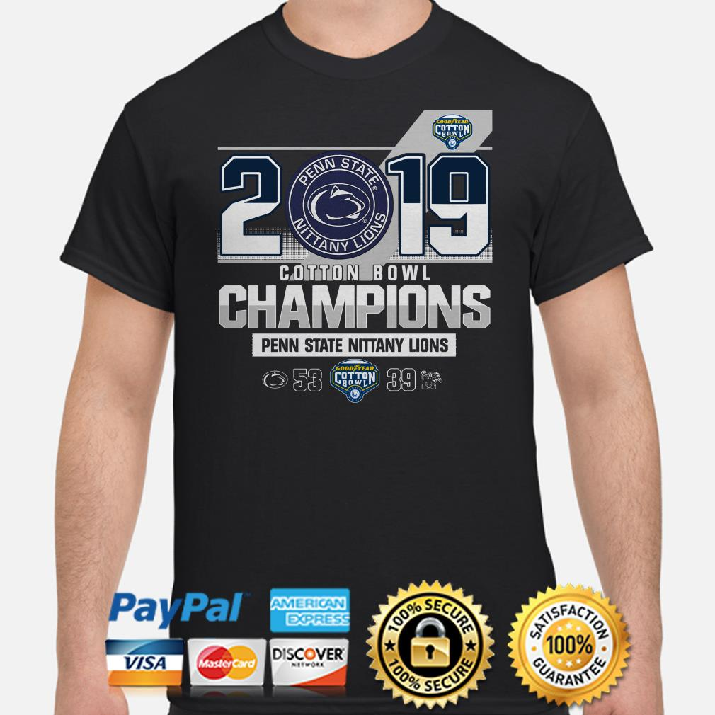 Penn State Nittany Lions 2019 Goodyear Cotton Bowl Champions shirt