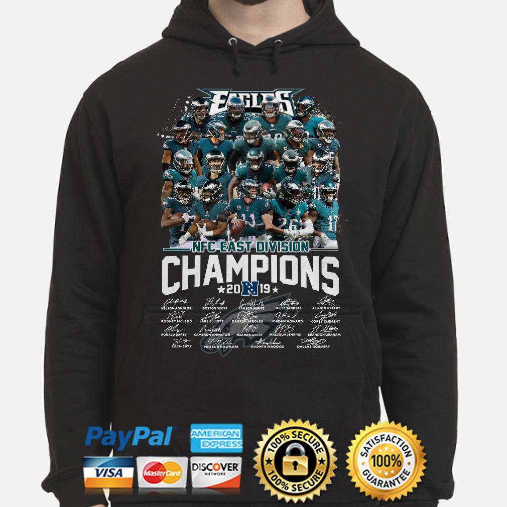 Philadelphia Eagles NFC East Division Champions 2019 signature Hoodie