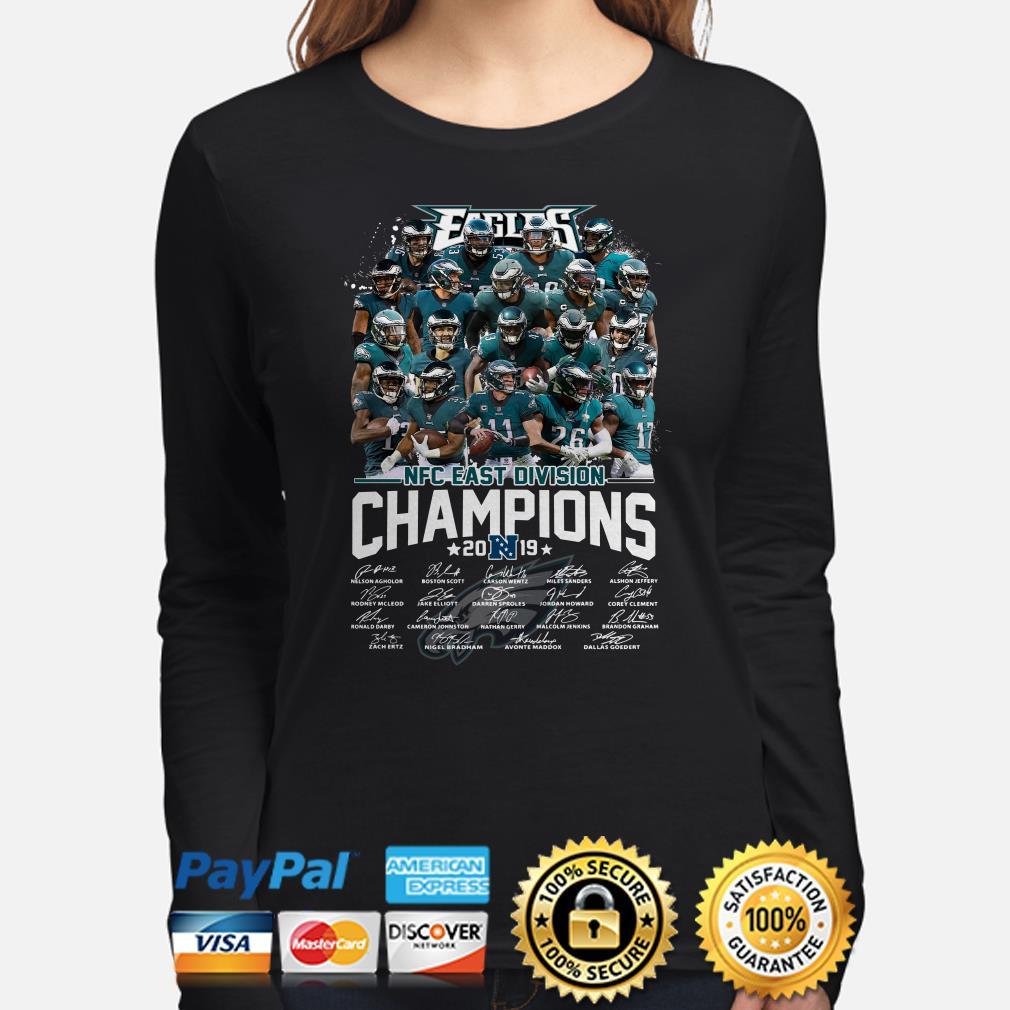 Philadelphia Eagles NFC East Division Champions 2019 signature Long sleeve