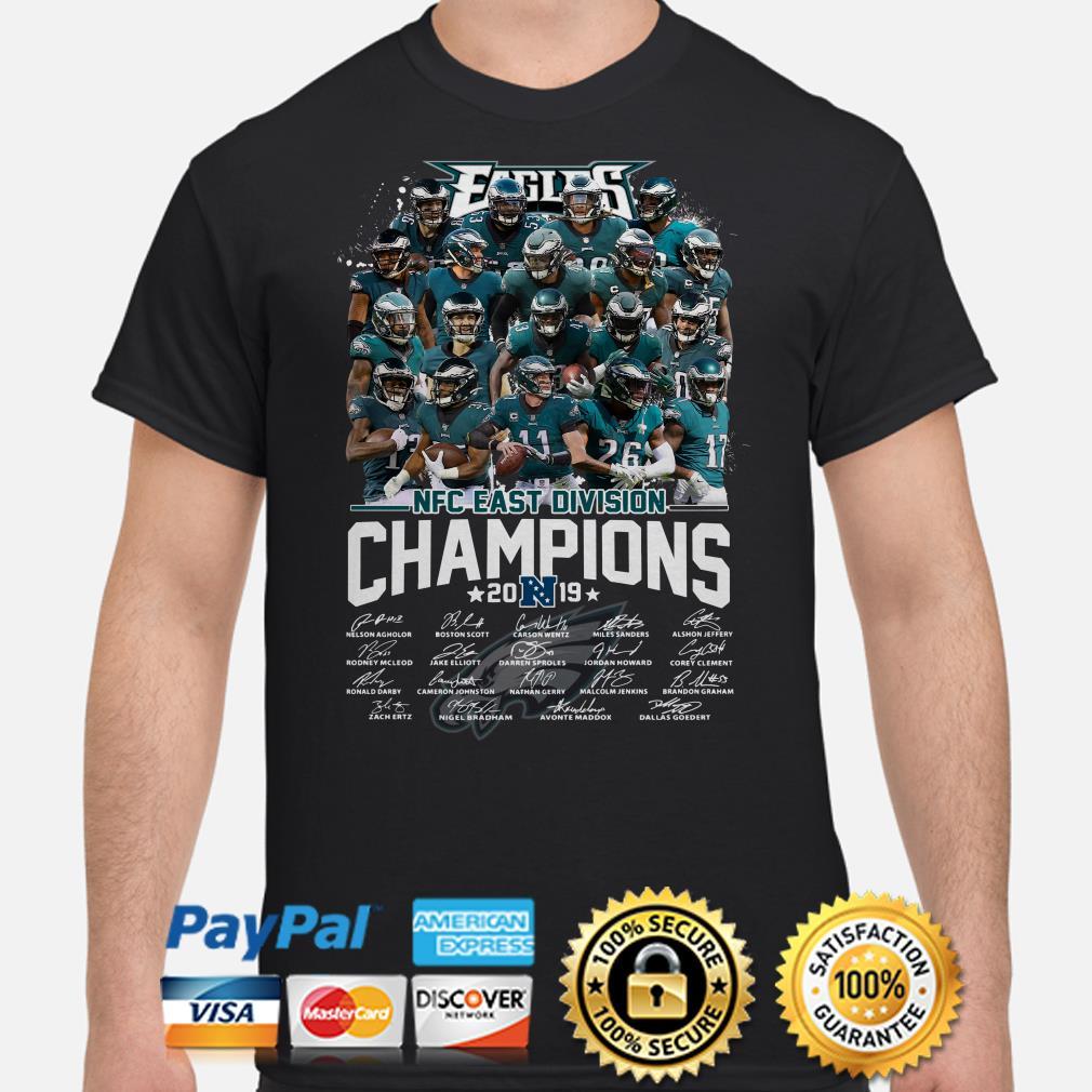 Philadelphia Eagles NFC East Division Champions 2019 signature shirt