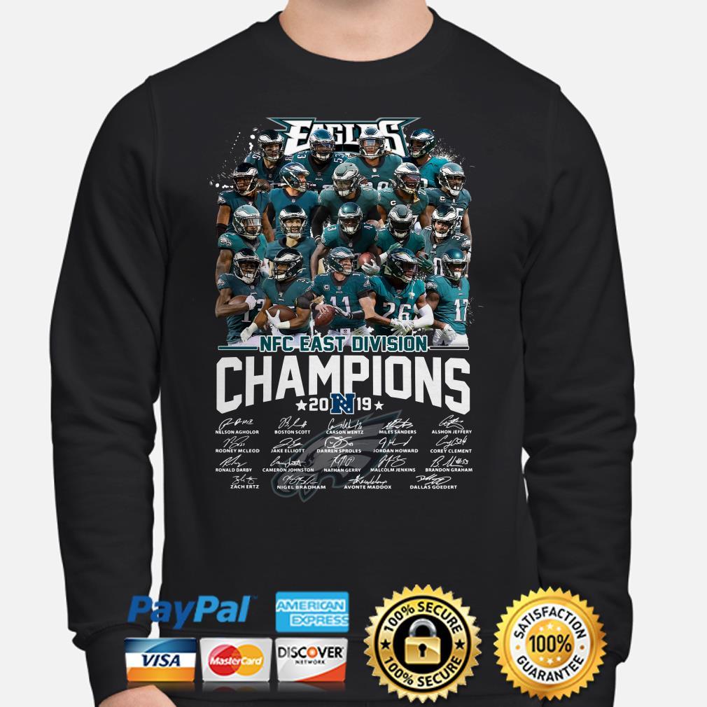 Philadelphia Eagles NFC East Division Champions 2019 signature Sweater