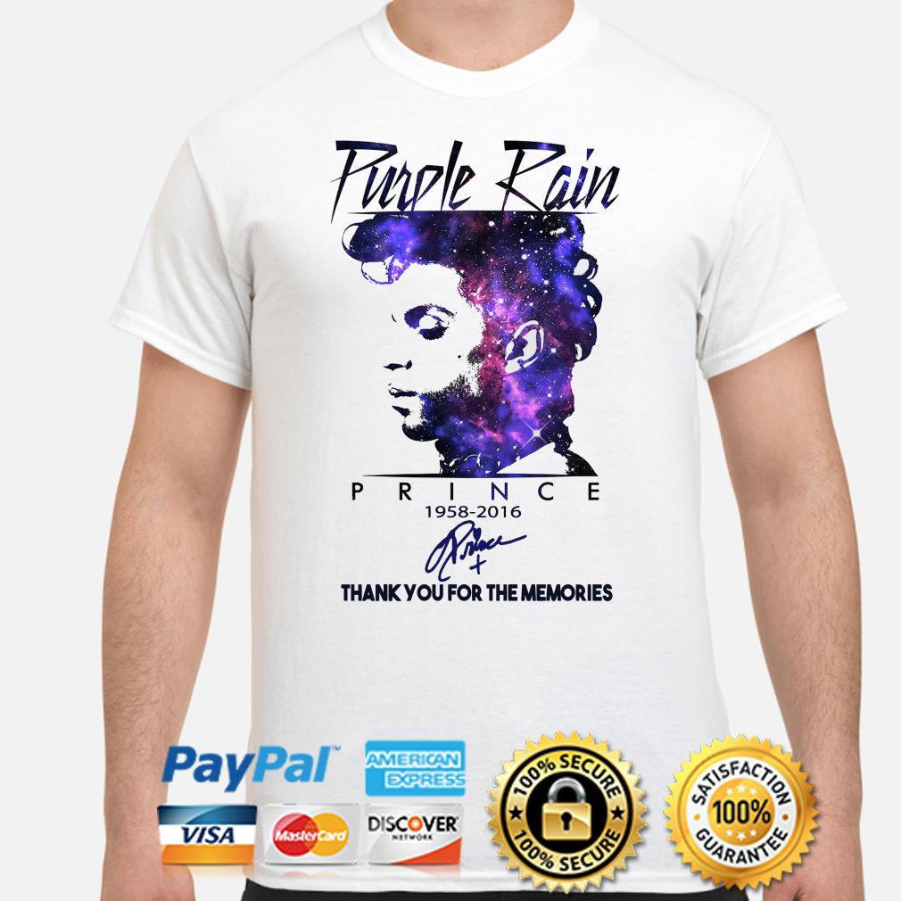 Purple Rain Prince thank you for the memories signature shirt