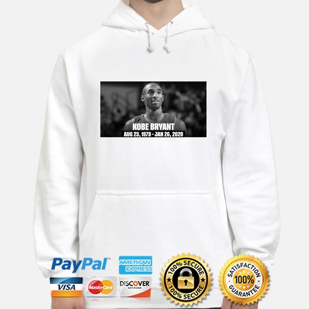 RIP Kobe Bryant Rest In Peace Aug 23 1978-Jan 26 2020 hoodie