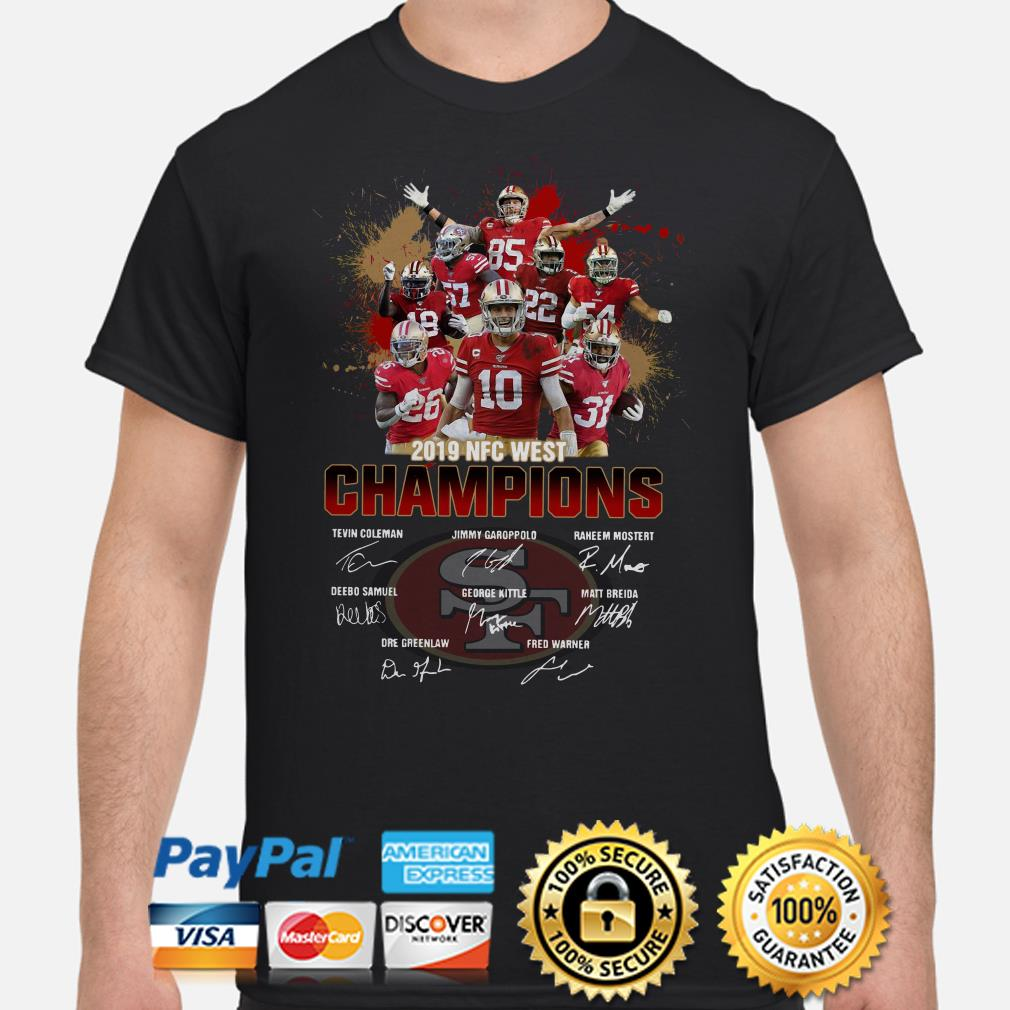 San Francisco 49ers 2019 NFC West Champions signature shirt