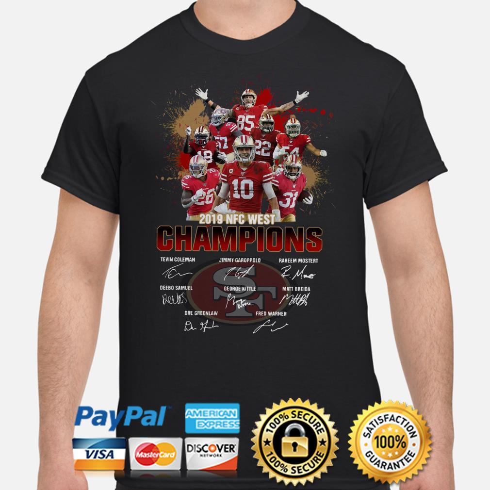 San Francisco 49ers 2019 NFC West Champions signature shirt