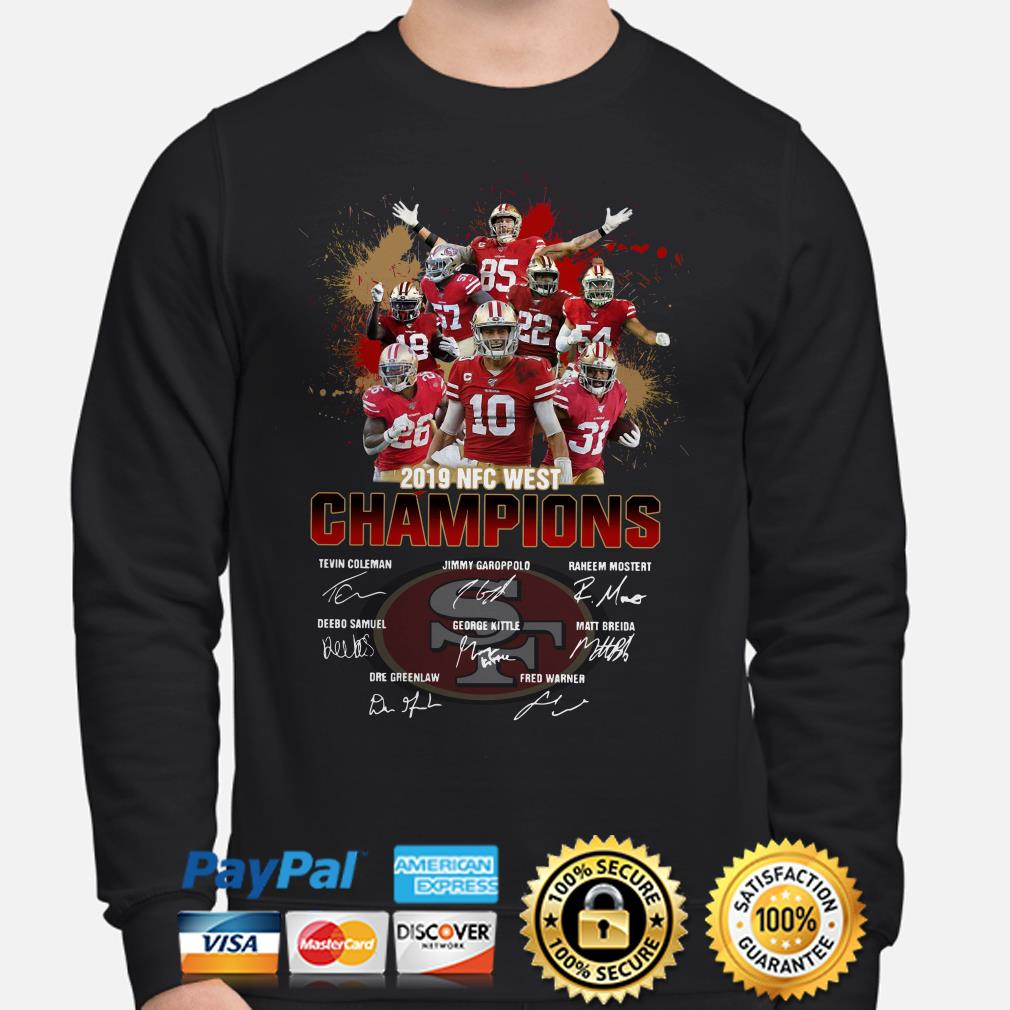 San Francisco 49ers 2019 NFC West Champions signature Sweater
