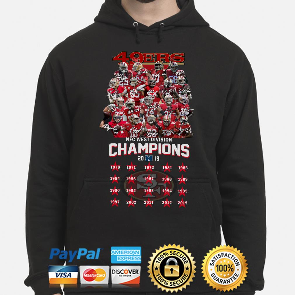San Francisco 49ers NFC West Division Champions 2019 signature Hoodie