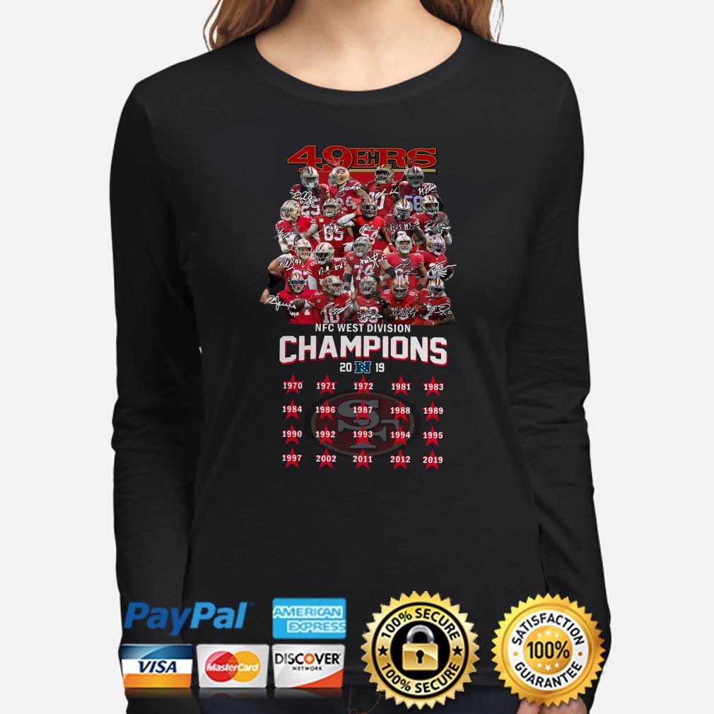 San Francisco 49ers NFC West Division Champions 2019 signature Long sleeve