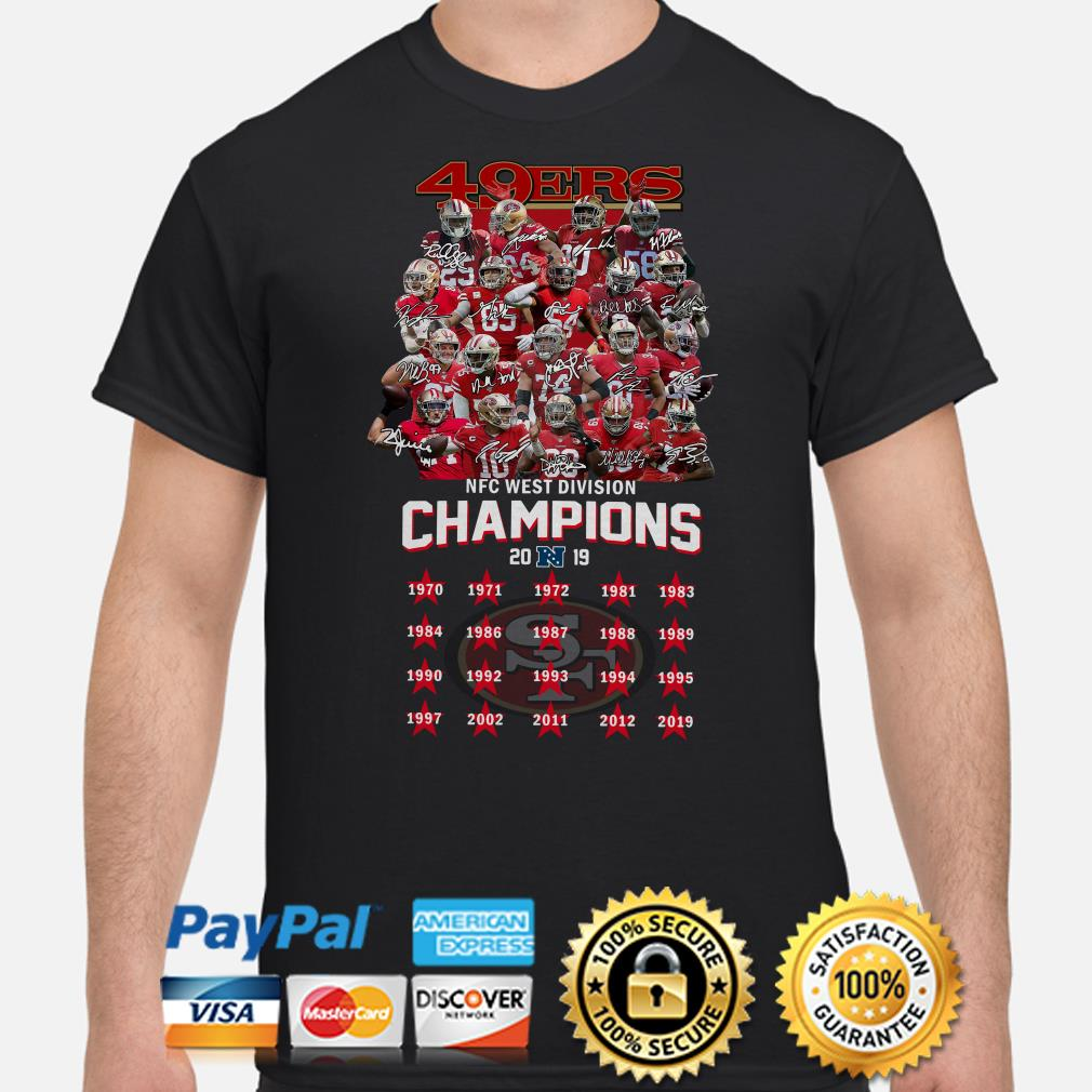 San Francisco 49ers NFC West Division Champions 2019 signature shirt