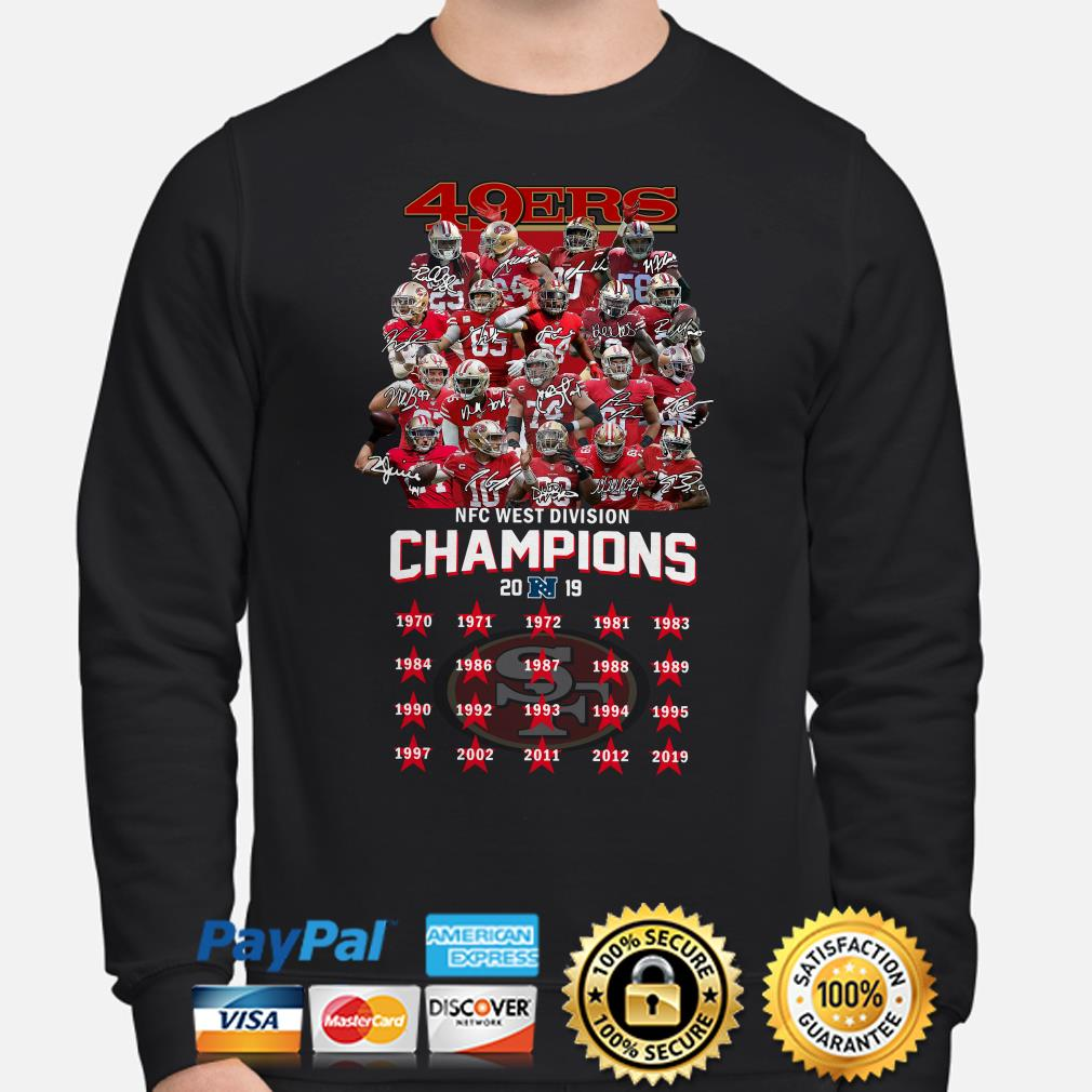 San Francisco 49ers NFC West Division Champions 2019 signature Sweater