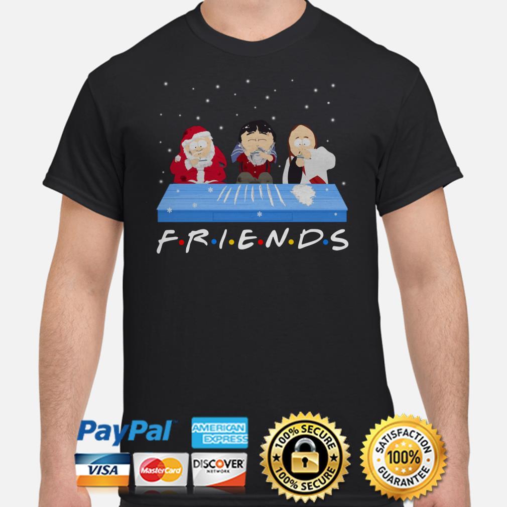 Santa Claus and Jon Snow cocaine Friends shirt