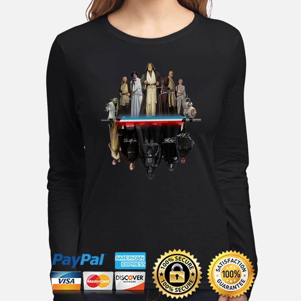 Star Wars characters water mirror signature Long sleeve