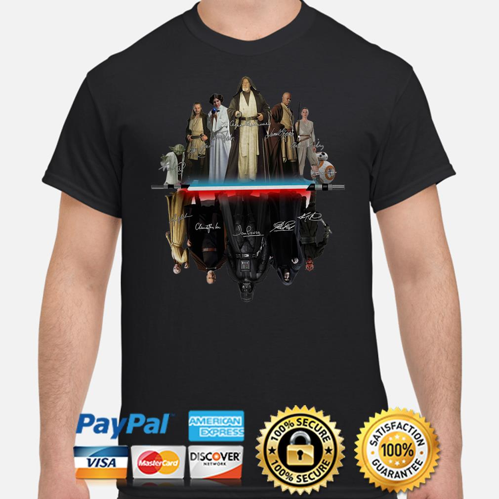 Star Wars characters water mirror signature shirt