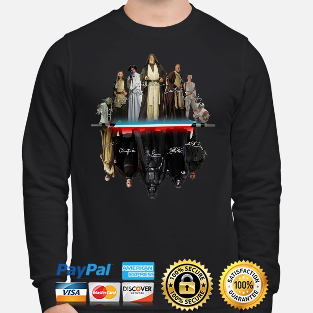 Star Wars characters water mirror signature Sweater