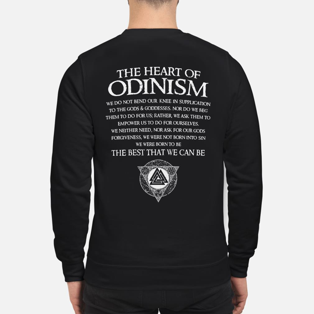 The heart of Odinism we do not bend our knee in supplication to the God Sweater