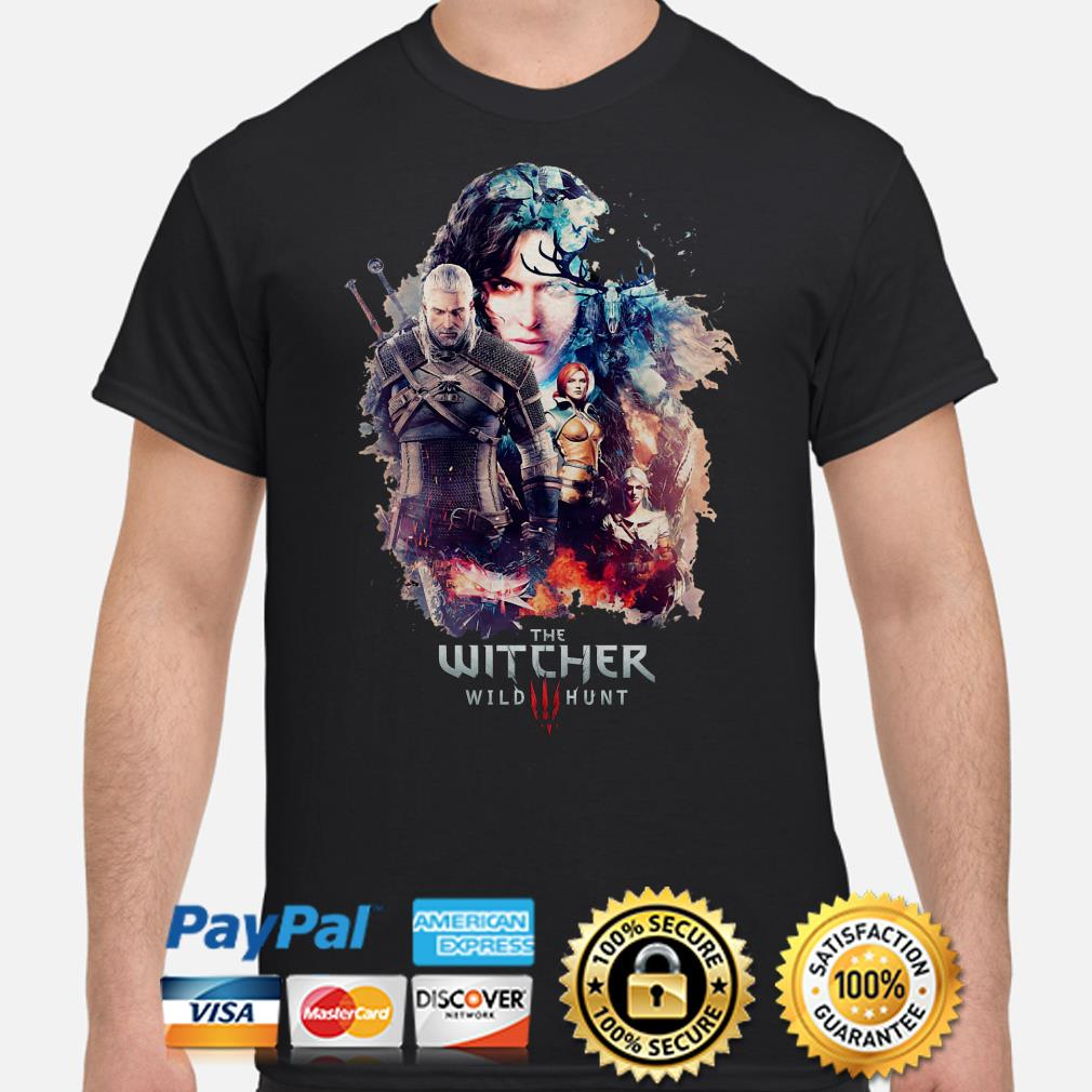 The Witcher Wild Hunt characters poster shirt