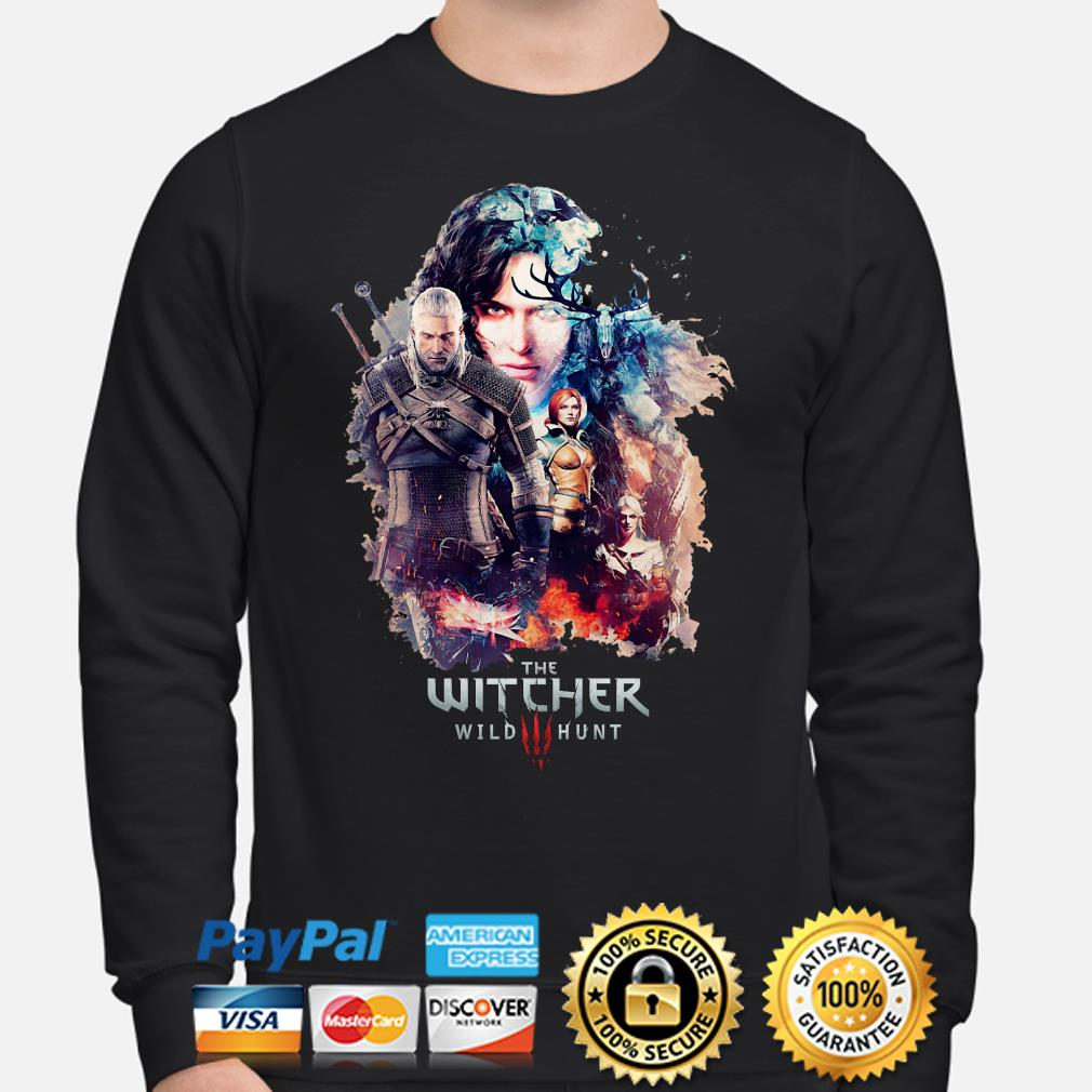 The Witcher Wild Hunt characters poster Sweater