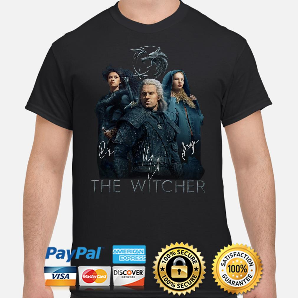 The Witcher Wild Hunt characters signature shirt