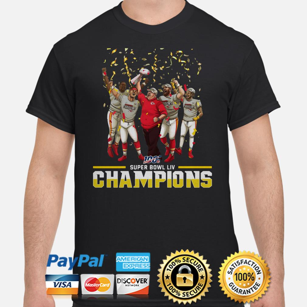 100 NFL Super Bowl LIV Champions Kansas City Chiefs shirt