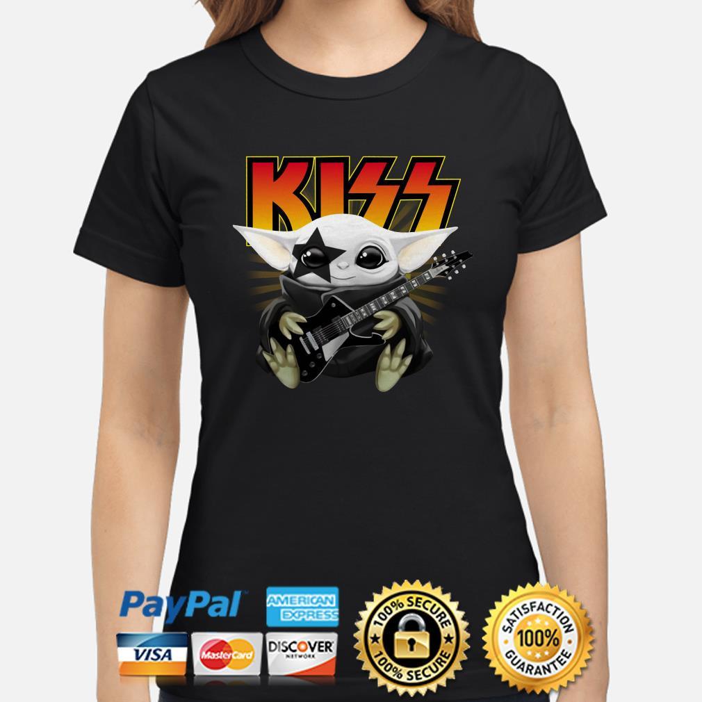 Baby Yoda Kiss Music Band Ladies shirt