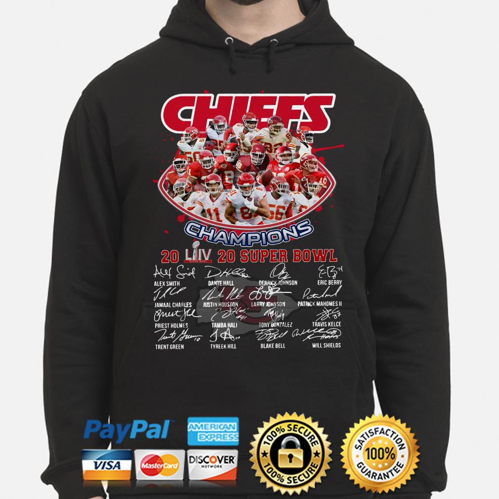 Chiefs Champions 2020 Super Bowl LIV signature Hoodie