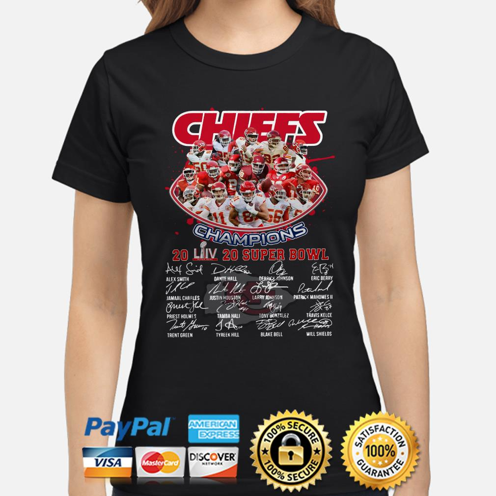 Chiefs Champions 2020 Super Bowl LIV signature Ladies shirt