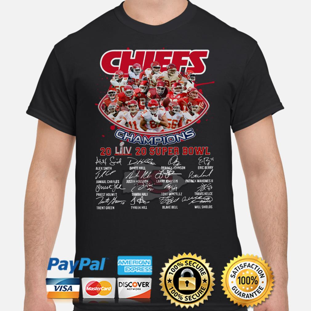 Chiefs Champions 2020 Super Bowl LIV signature shirt