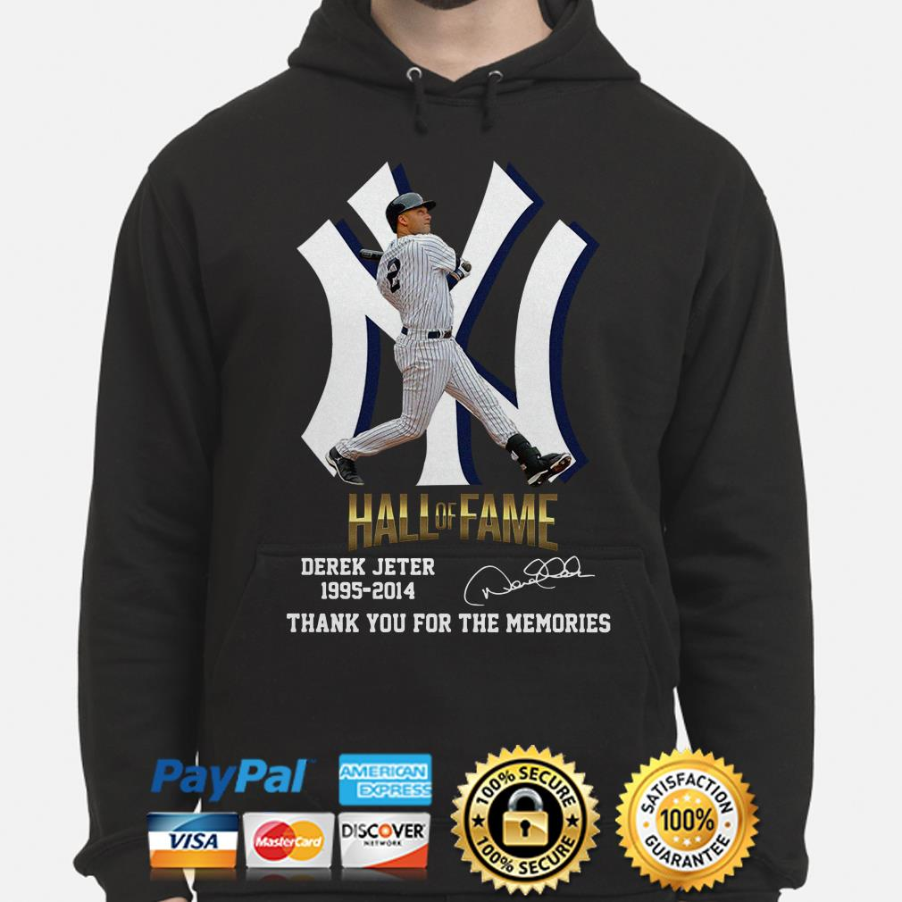 Hall Of Fame Derek Jeter 1995 2014 thank you for the memories signature Hoodie