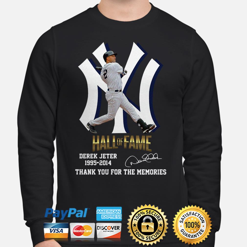 Hall Of Fame Derek Jeter 1995 2014 thank you for the memories signature Sweater