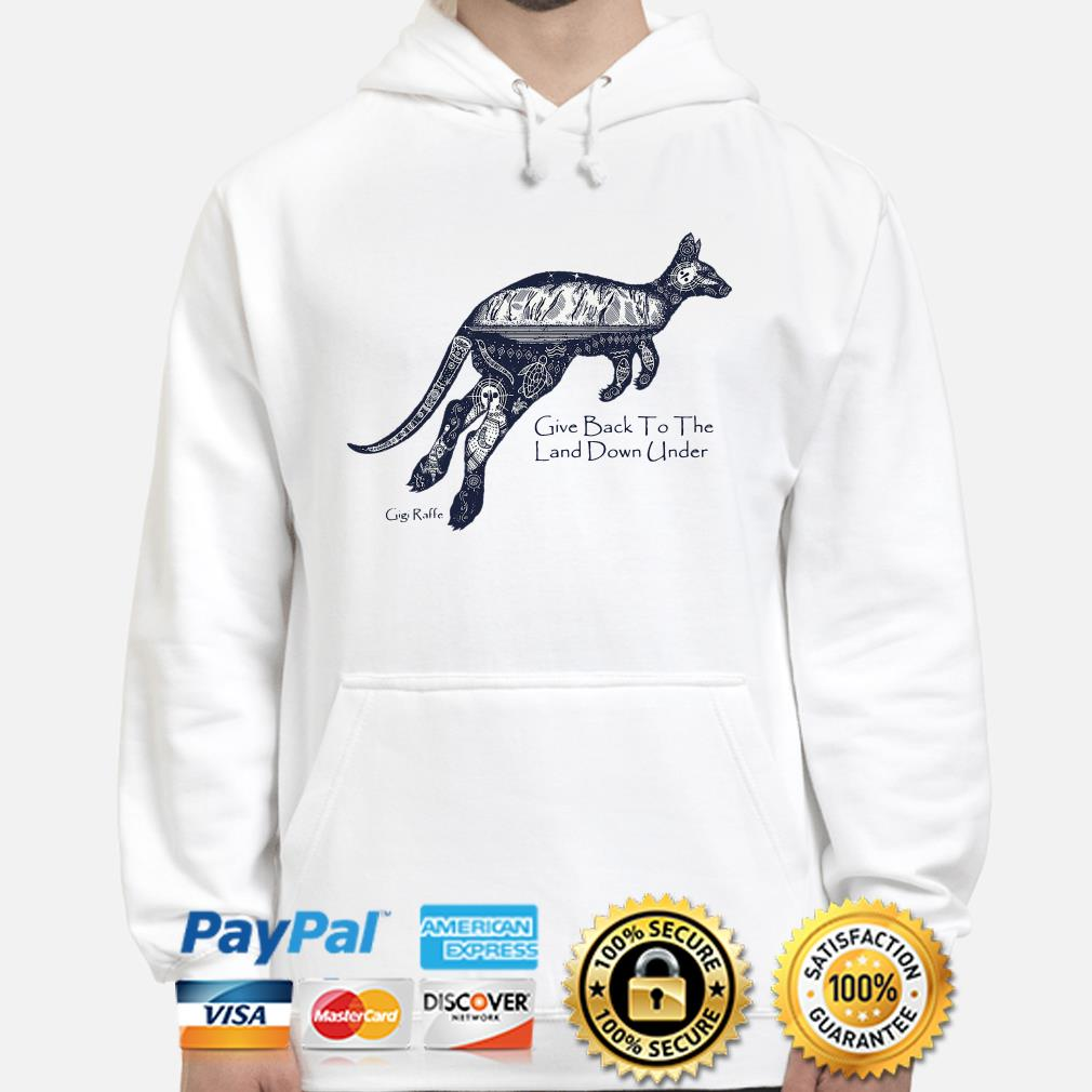 Kangaroo give back to the land down under Hoodie