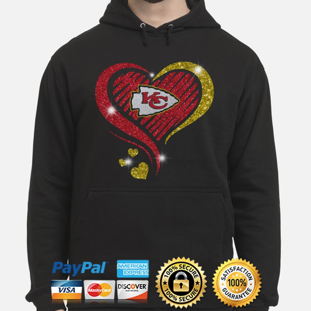 Kansas City Chiefs heart diamond Hoodie