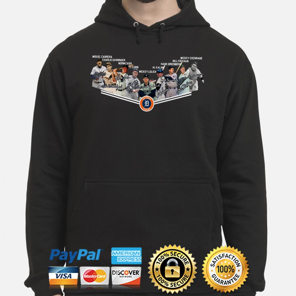 Detroit Tigers Legends signature Hoodie