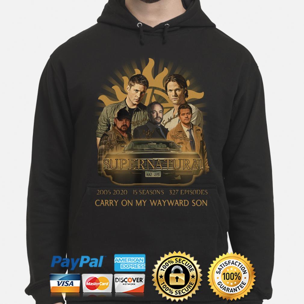 Supernatural 2005 2020 15 seasons Carry On My Wayward Son Hoodie