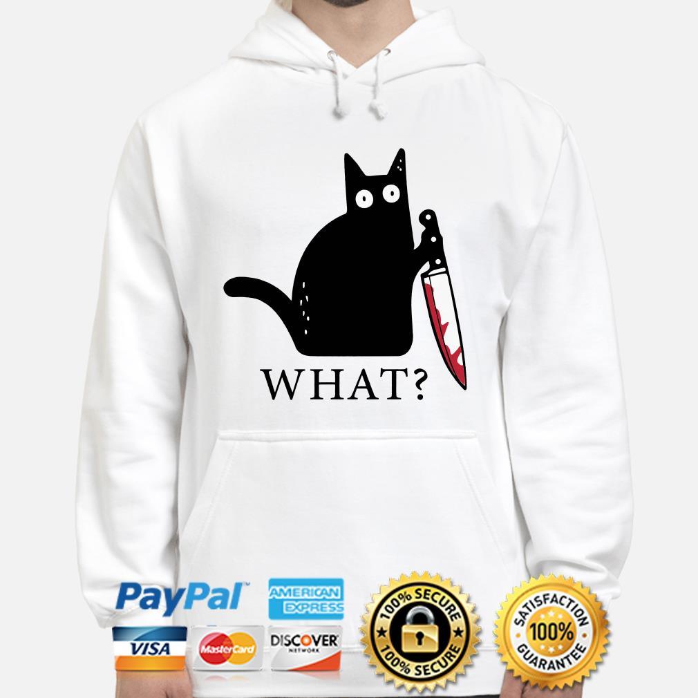 Black cat blood knife what hoodie