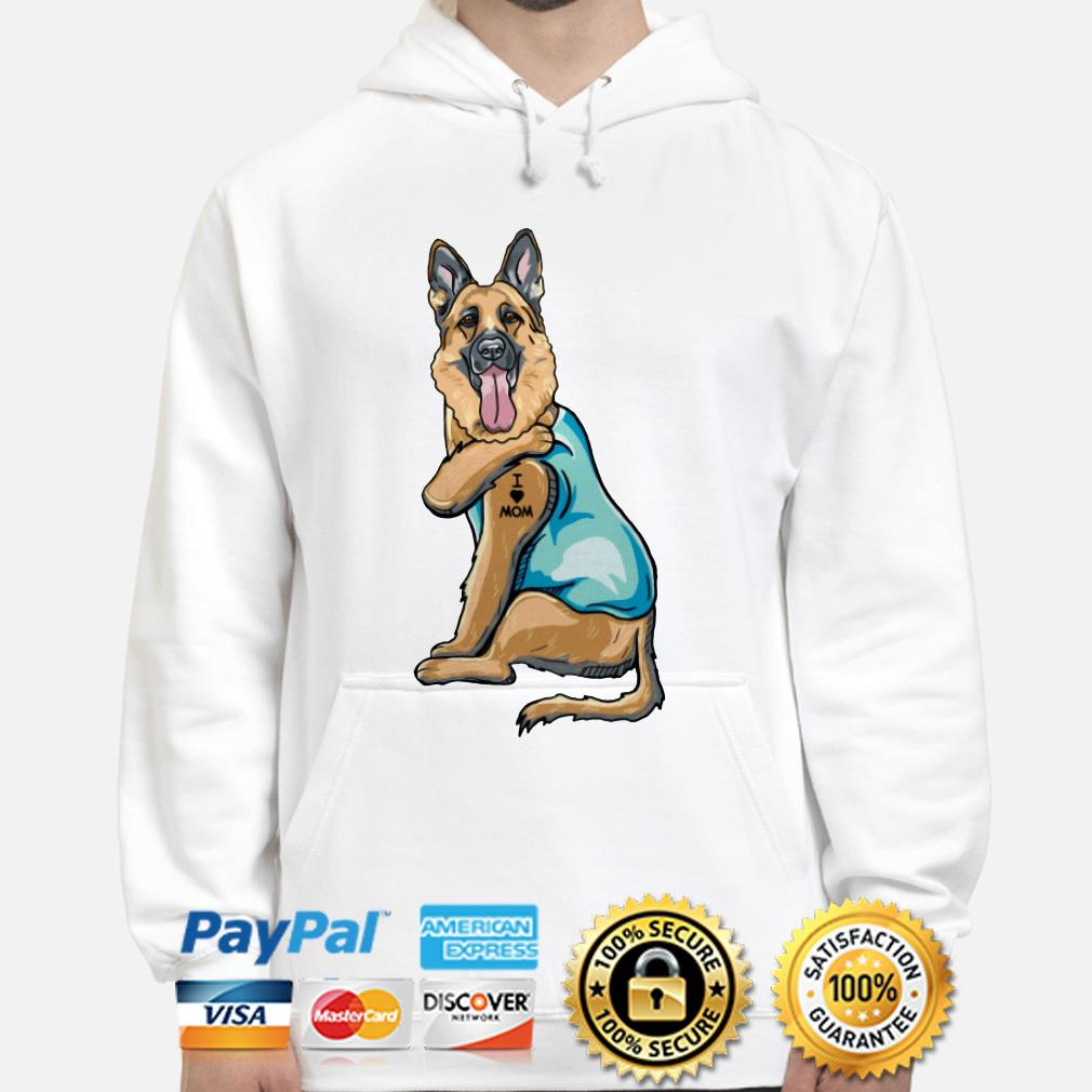 Tattoos German Shepherd I love mom Hoodie
