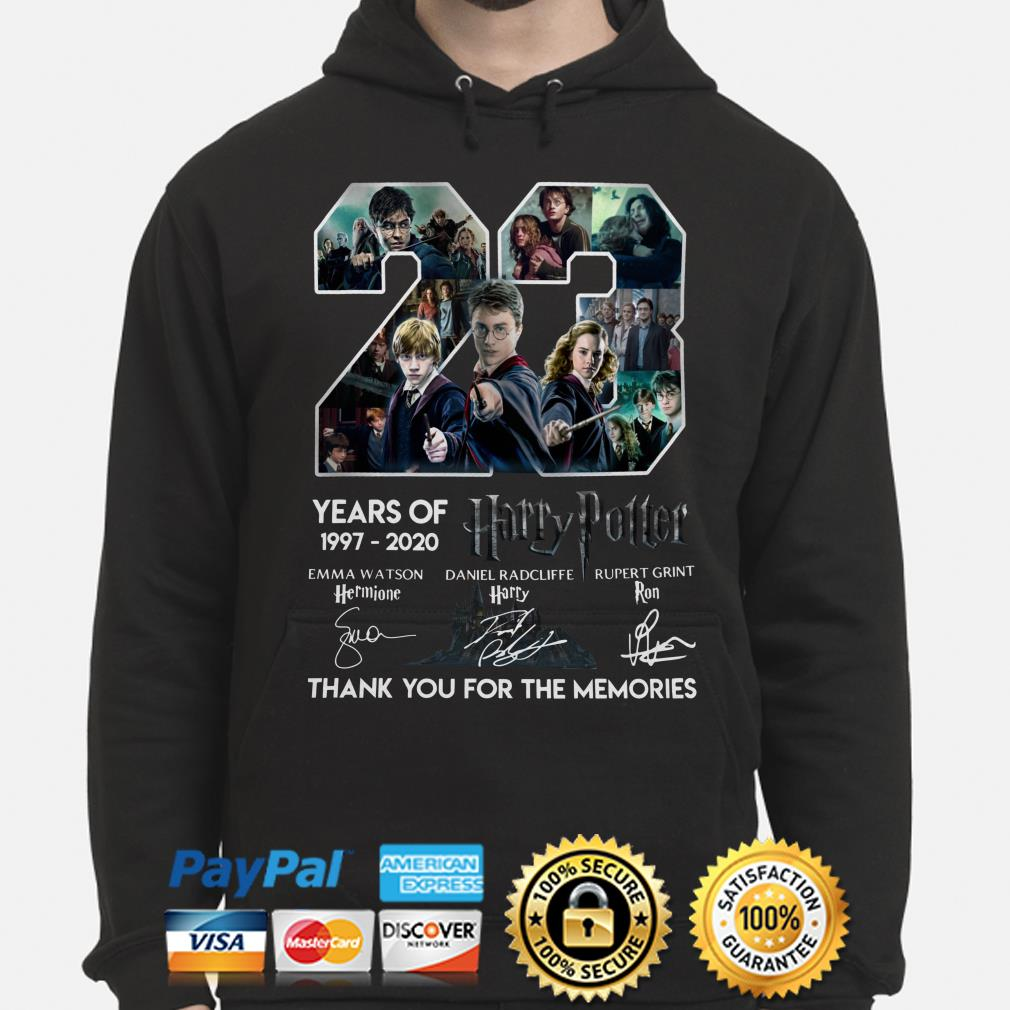 23 years of Harry Potter thank you for the memories signature Hoodie