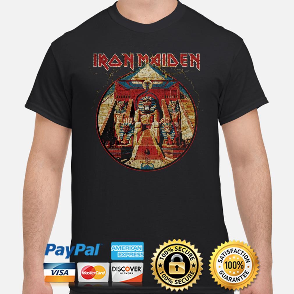 Iron Maiden Powerslave Lightning Circle shirt